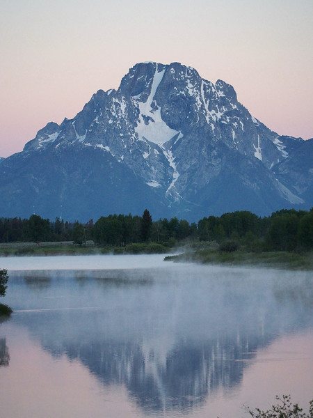 Mount Moran pre sunrise, Oxbow Bend, Grand Teton NP
