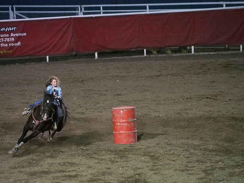 Taking the corner, Cody Nite Rodeo, Cody WY