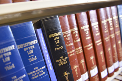 Law and legal books located in the Jackson County Law Library. Oct. 2020