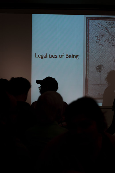 "On April 12, 2018 K-State's Beach Museum of Art hosted artist Fidencio Fifield-Perez to present his work, ""Legalities of Being."" Fifield-Perez was an illegal immigrant and discusses his experiences and how they led him to activism through studio practice and non-traditional art practices. (Hannah Greer 
