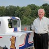 """racing legend Will Cagle checks out """"the new racing legend""""."""