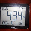 My indoor-outdoor thermometer (83 indoors...119 on our deck...in the sun)
