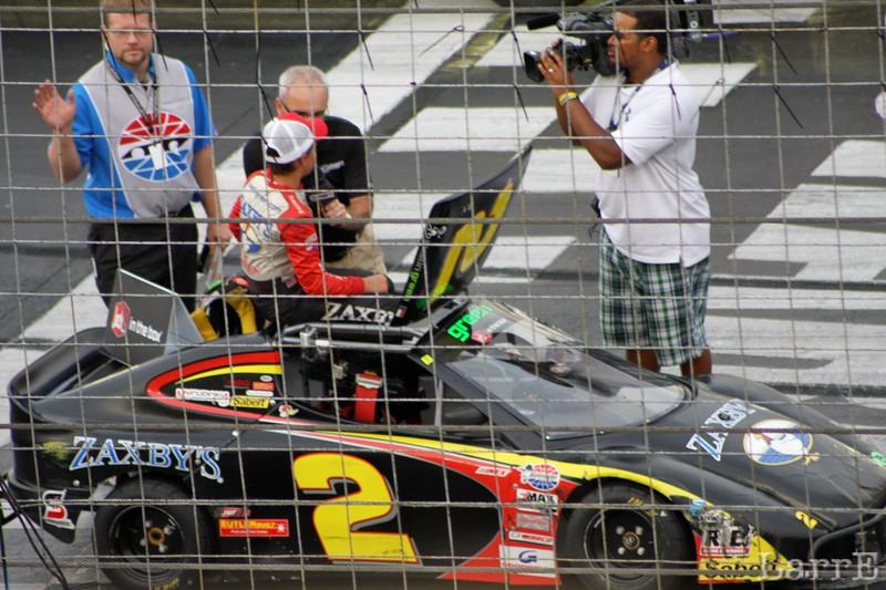 Austin Green wins the Bandit feature race