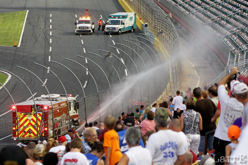 On a hot Carolina night the Charlotte Speedway knows what the fans need