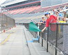 Most tracks have a young flagman-to-be.