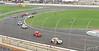 Cars scatter for a spinnig car