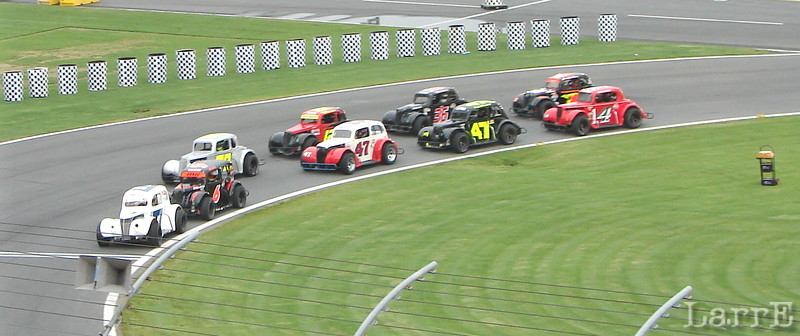 One of many heat races set the fields for the feature events.
