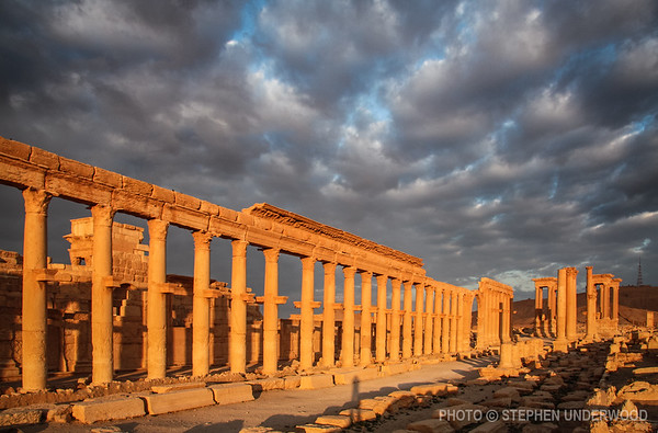 Palmyra's main colonnaded street