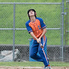 American Legion baseball playoffs started in Leomimnster on Thursday with Framingham Post 74 playing Leominster Post 151. Leominster's Liam McNiff watches his popup. SENTINEL & ENTERPRISE/JOHN LOVE