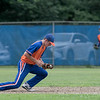 American Legion baseball playoffs started in Leomimnster on Thursday with Framingham Post 74 playing Leominster Post 151. Leominster second baseman Matt Dupuis picks up a ground and throws to first for an out. SENTINEL & ENTERPRISE/JOHN LOVE