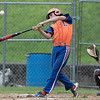 American Legion baseball playoffs started in Leomimnster on Thursday with Framingham Post 74 playing Leominster Post 151. Leominster's Liam McNiff swings at a pitch. SENTINEL & ENTERPRISE/JOHN LOVE