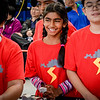 Medha Sri, 9, of Littleton is all smiles while their team is competing in the Lego building event at Nashoba Tech in Littleton. SUN/Caley McGuane