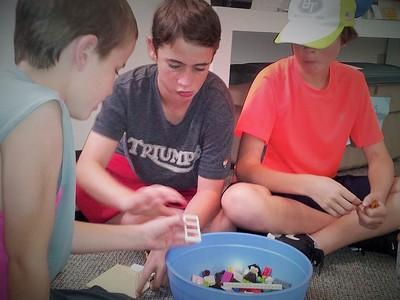 Lego team build: build a biblical scene from Legos!