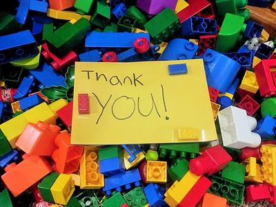 A Lego Thank You Card!
