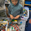 On Tuesday afternoon at the Boys and Girls Club of Fitchburg and Leominster some of the kids took part in the Lego robotics activity. Kaeden Tofteroo, 9, from Leominster works on making some weapons for his friends battle bot during the activity. SENTINEL & ENTERPRISE/JOHN LOVE