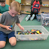 On Tuesday afternoon at the Boys and Girls Club of Fitchburg and Leominster some of the kids took part in the Lego robotics activity. Collin Hudson, 8, from Leominster makes a fish with the Lego's during the activity. SENTINEL & ENTERPRISE/JOHN LOVE