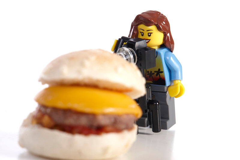 Mini hamburger.