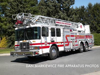 EMMAUS FIRE DEPT. TRUCK 731 2011 HME/ROSENBAUER AERIAL LADDER
