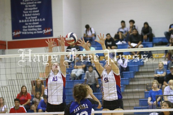 Hays and Lehman volleyball at the Hays Rebel Bash