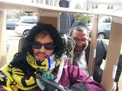 Purim at Rav Bender's house.