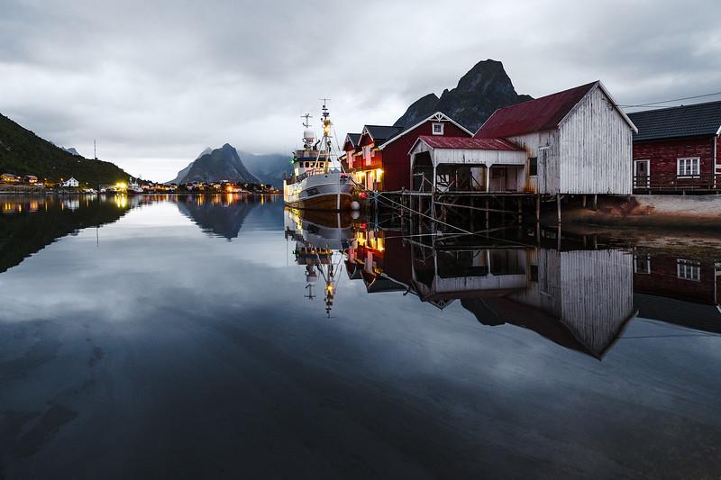 Land of the midnight sun. A quiet harbor in Lofoten, Norway. LeicaSL