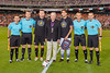Current member of the Leidos Board of Directors and prior Leidos CEO (and retired USAF Chief of Staff) John Jumper (in the black sports coat) with representatives of both teams for the pre-match coing toss.