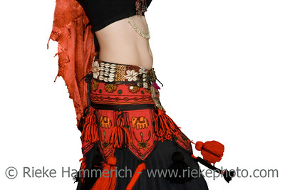 Young women belly dancing - performance in a traditional outfit - adobe RGB