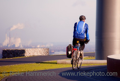 Senior Man Cycling - Herten, North Rhine-Westphalia, Germany