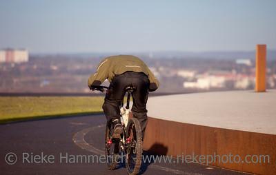 Young Man Mountain Biking - Herten, North Rhine-Westphalia, Germany