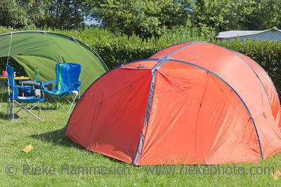 Tent and Tarp on campground