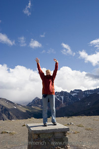 young woman on mountain peak - mount whistler, jasper national park, canada - adobe RGB