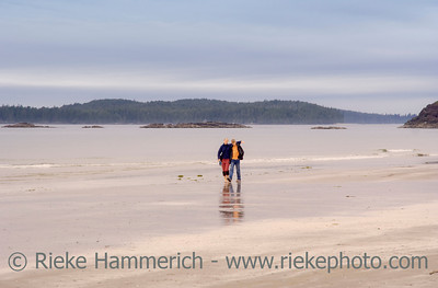Brother and Sister on Long Beach of Pacific Rim National Park - Vancouver Island, British Columbia, Canada