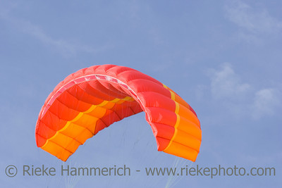 red power kite - this kite is a de-power foil and can be used for buggying, land-boarding or snowkiting - adobe RGB