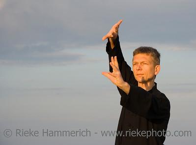 tai chi - posture fan through back - art of self-defense - adobe RGB