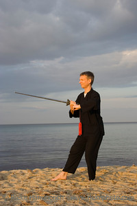 tai chi - posture waiting for fish - art of self-defense - adobe RGB