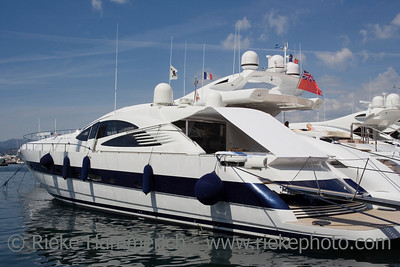 luxury yacht in the port of saint-tropez - french riviera, mediterranean sea - adobe RGB
