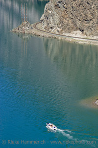 Speedboat and Wake on Seton Lake - British Columbia, Canada