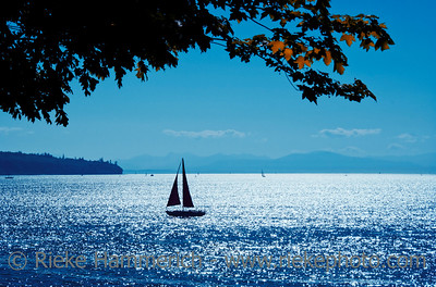 Sailing on Pacific Ocean