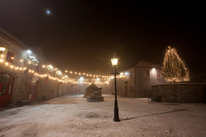 The Market Yard in Carrick-on-Shannon in Co. Leitrim on Christmas Eve night, 2009.
