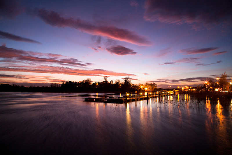 The jetty by the Leitrim-Roscommon bridge over the river Shannon at Carrick-on-Shannon.