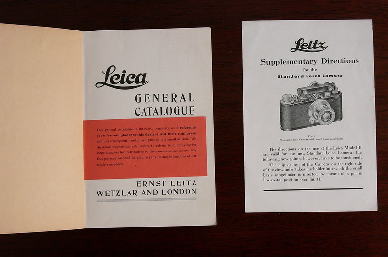 A Selection of 1930's Leitz Papers