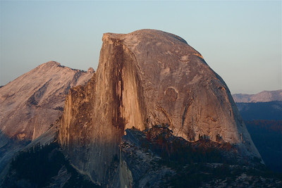 84 • Majestic  • Half Dome @ Sunset viewed from Glacier Point • Yosemite, CA - 2005 • Not a unique photograph, but still one of the most spectacular views this planet has to offer (posted 9/19/2011)