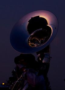 90 • Bleachers @ Dusk  • Branham HS Royal Alliance Rehearsal • Branham High School • 2011 (posted 12/11/11)