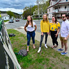 KRISTOPHER RADDER — BRATTLEBORO REFORMER<br /> A display of photos of students from the Class of 2020 outside of Leland & Gray Union Middle and High School.