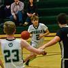 KRISTOPHER RADDER — BRATTLEBORO REFORMER<br /> Leland & Gray's Matt Emerson makes it through BV Long Trail School's defense during a boys' varsity basketball game on Monday, Jan. 13, 2020.