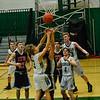 KRISTOPHER RADDER — BRATTLEBORO REFORMER<br /> Leland & Gray Middle High School hosted BV Long Trail School during a boys' varsity basketball game on Monday, Jan. 13, 2020.