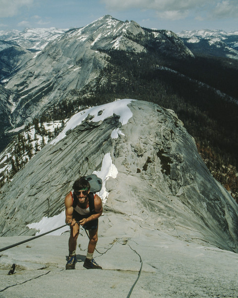 Doug Ascending Half Dome