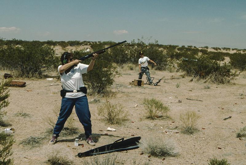 We both loved shooting.
