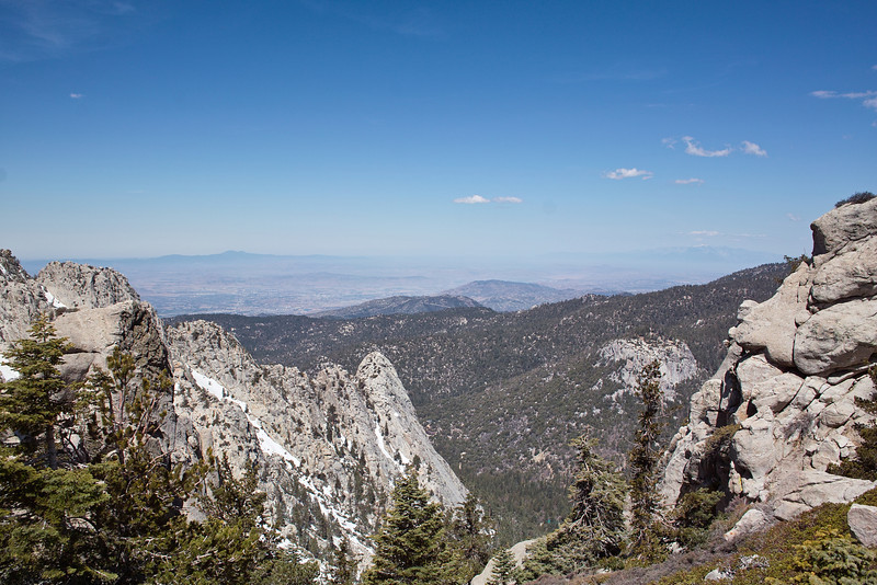 5/15: West view, heading south from Saddle Junction to Tahquitz Peak Trail junction.
