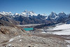 East view from Renjo La.  Gokyo visible on the far side of the lake.